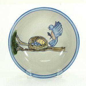 Stoneware Serving Bowl with Bluebird, Louisville